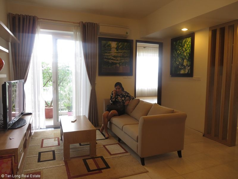 Fully furnished apartment with 02 bedrooms for rent in Ecopark.
