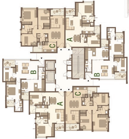 Layout of Ecopark apartments