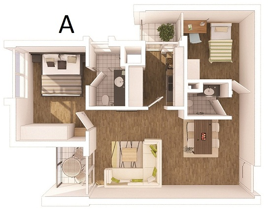 ecopark van giang apartment type a layout