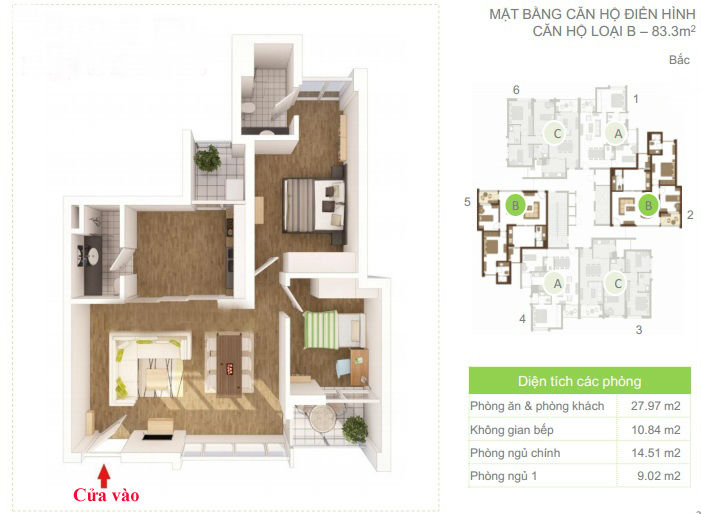 layout of apartments type b ecopark van giang