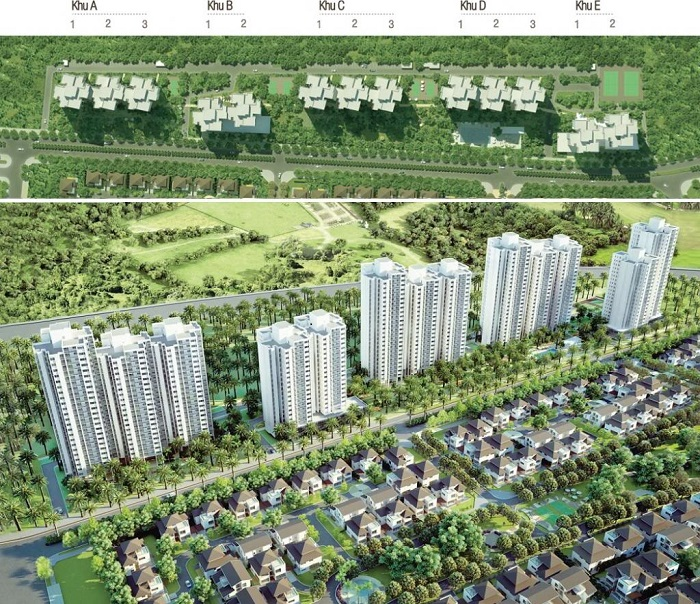 overview of rung co apartments ecopark van giang