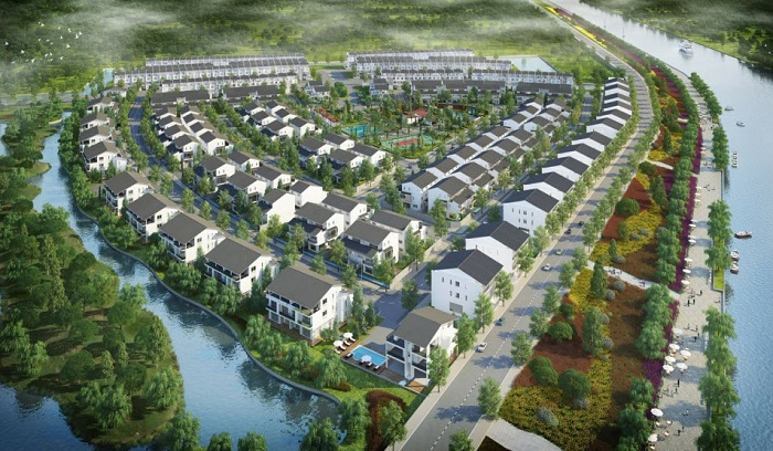 villas and townhouses ecopark van giang